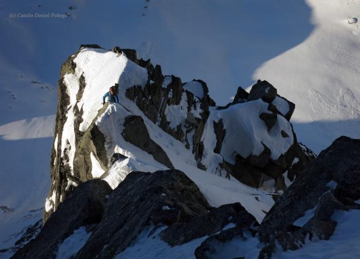 Aiguille du Midi, Frendo Spur (winter) (12.1 of 20)