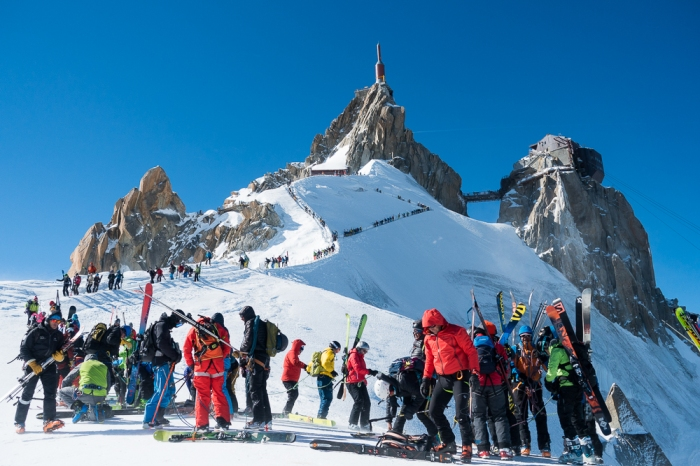 Aiguille du Midi, Frendo Spur (winter) (20 of 20)