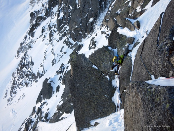 Aiguille du Midi, Frendo Spur (winter) (6.1 of 20)